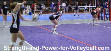 Volleyball techniques for serving floaters