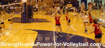 Volleyball techniques for setting