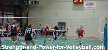 Volleyball skills setting