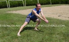 Dynamic exercises for volleyball lunge