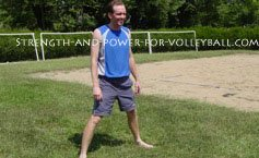 Dynamic exercises for volleyball side lunge