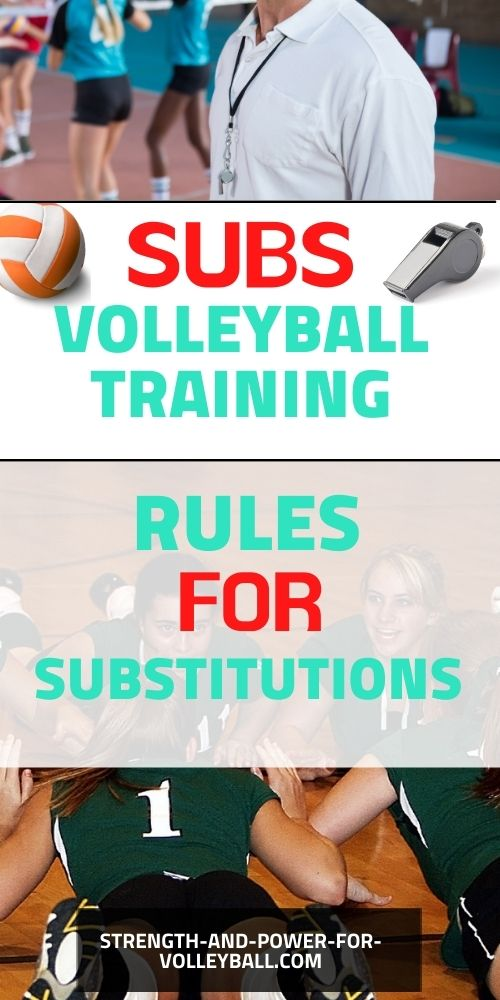 Volleyball substitution rules