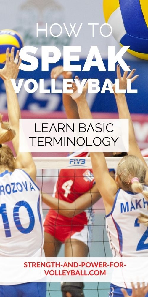 Learning Volleyball lingo