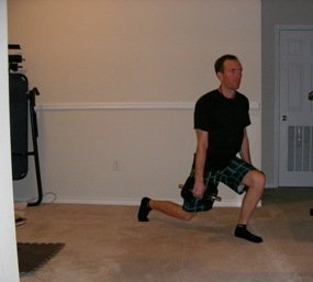 Volleyball workout program lunge
