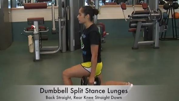 Youth volleyball exercises lunges for leg strength